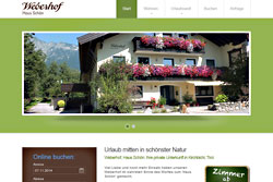 Full Service Web für eine Pension in Tirol